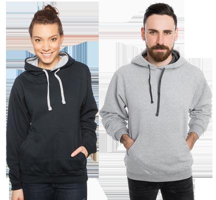 Kontrast T skjorte for menn med eget designtrykk Lag din